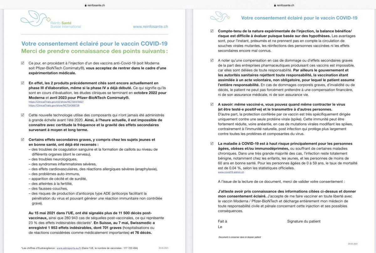 Informierte Zustimmung zum Covid-19-Impfstoff